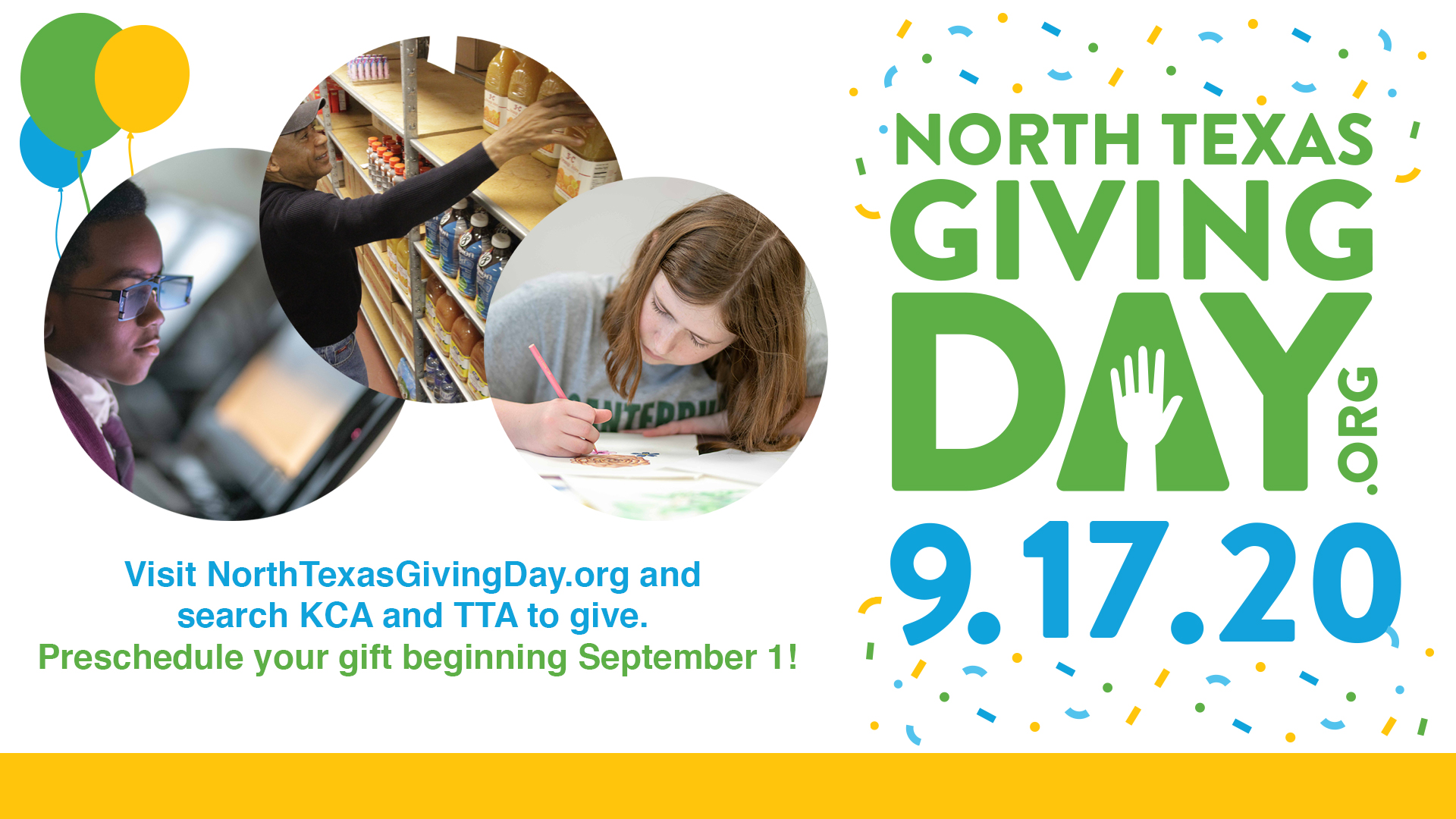 Support KCA and TTA through the 2020 North Texas Giving Day
